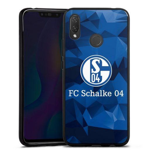 DeinDesign Handyhülle »Schalke 04 Camo« Huawei P Smart Plus, Hülle FC Schalke 04 Muster Offizielles Lizenzprodukt