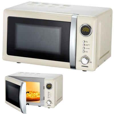 MELISSA Mikrowelle 16330108 Classico Retro 20 Liter Mikrowellein Creme Beige, 20 l