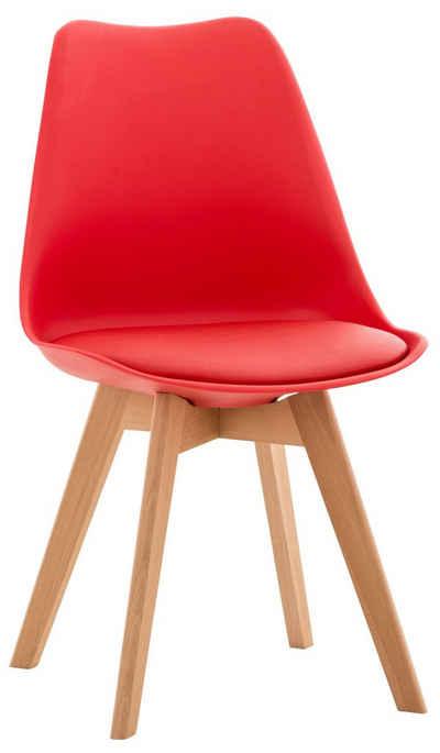 CLP Küchenstuhl »Linares«, Kunststoff mit Kunstlederbezug