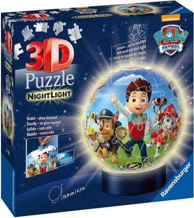 Ravensburger Puzzleball »Nachtlicht Paw Patrol«, 72 Puzzleteile, mit Leuchtmodul inkl. LEDs; Made in Europe, FSC® - schützt Wald - weltweit