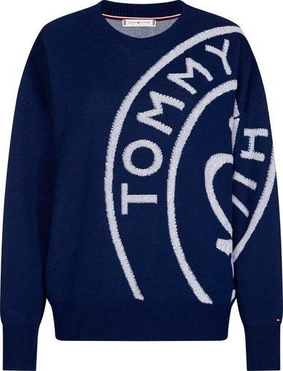 TOMMY HILFIGER Rundhalspullover »BOBBEE STAMP LOGO SWTR« Mit Logoschriftzug