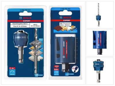 Bosch Professional Lochsäge »Bosch EXPERT Construction Material Lochsägen Starter Set 51 x 60 mm (2608900463) Universal + Power Change Adapter (2608900527)«