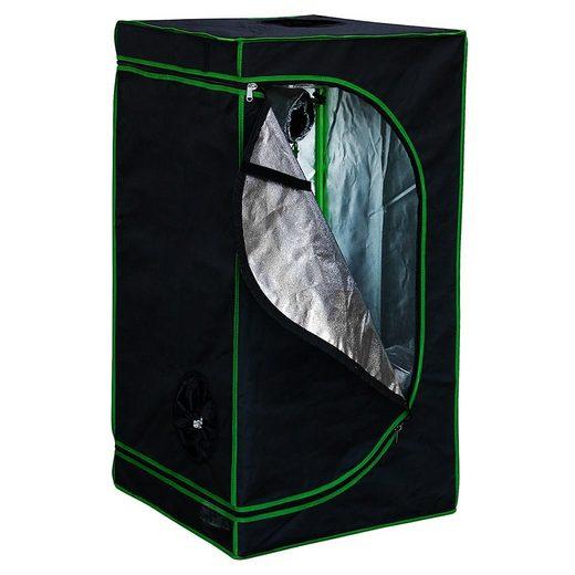 Mucola Gewächshaus »Growbox Indoor Gewächshaus Indoor Pflanzenzelt Zuchtzelt Growroom Zuchtschrank Darkroom«