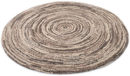 Teppich »Lexa Round«, OCI DIE TEPPICHMARKE, rund, Höhe 20 mm, besonders weich durch Mircofaser, Wohnzimmer