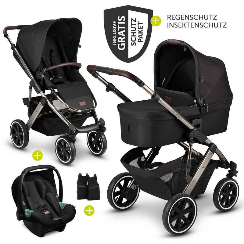 ABC Design Kombi-Kinderwagen »Salsa 4 Air - Diamond Edition - Dolphin«, (9-tlg), 3in1 Kinderwagen-Set - inkl. Babywanne, Babyschale Tulip & XXL Zubehörpaket