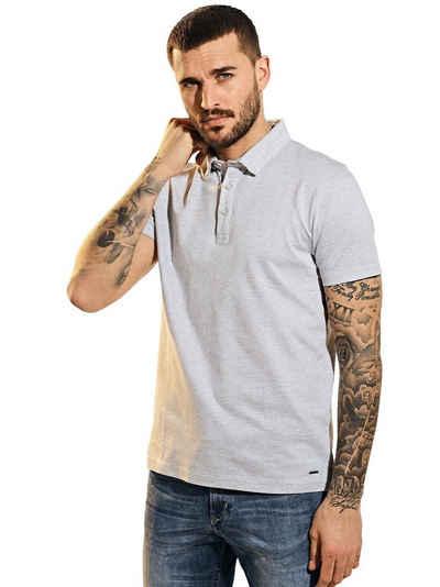 emilio adani T-Shirt »Poloshirt mit Jacquard-Struktur«