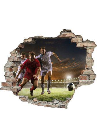 queence Wandtattoo »Fußball Zweikampf« (1 vien...