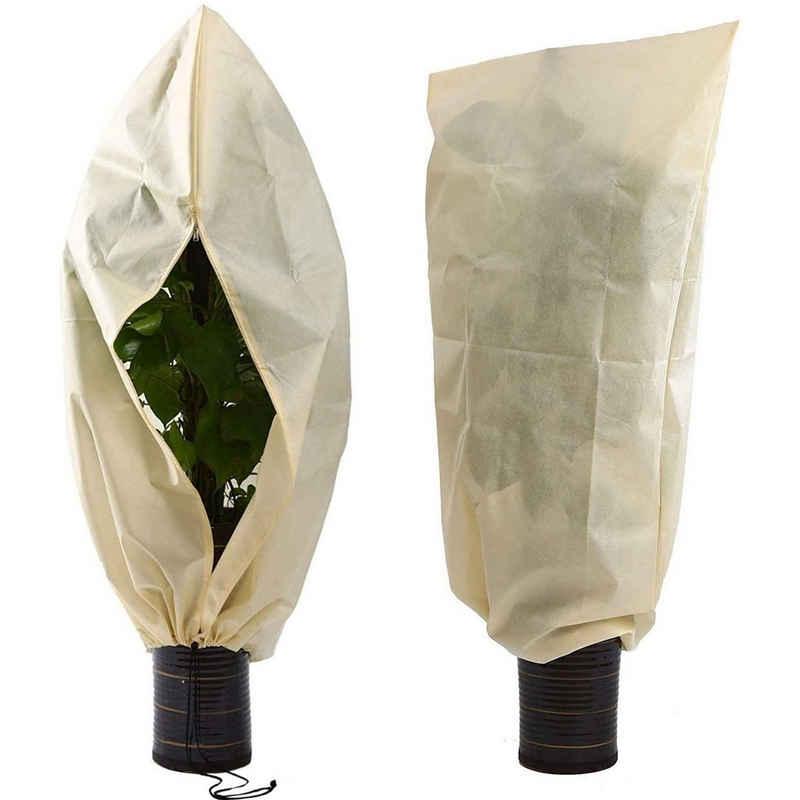 Praknu Pflanzkübel »Winterschutz für Pflanzen 100 x 80 cm« (1 Stück), Atmungsaktiv - Reißfest - Waschbar - Wiederverwendbar - 80 g/m² Stark
