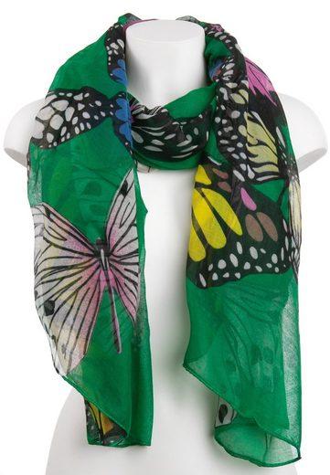 CASSANDRA Schal mit verspieltem Schmetterlingsmuster