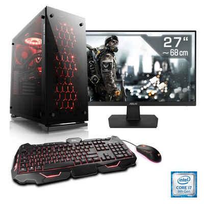 CSL »HydroX T9018 Wasserkühlung« PC-Komplettsystem (27 Zoll, Intel Core i7, RTX 2060, 16 GB RAM, 512 GB SSD)