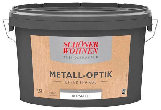 SCHÖNER WOHNEN FARBE Spezialfarbe »Metall-Optik Effektfarbe blassgold«, 1 l