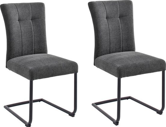 MCA furniture Freischwinger »Calanda« (Set, 2 Stück), Esszimmerstuhl mit Aqua Clean Bezug, Nosag Federung, belastbar bis 120 kg