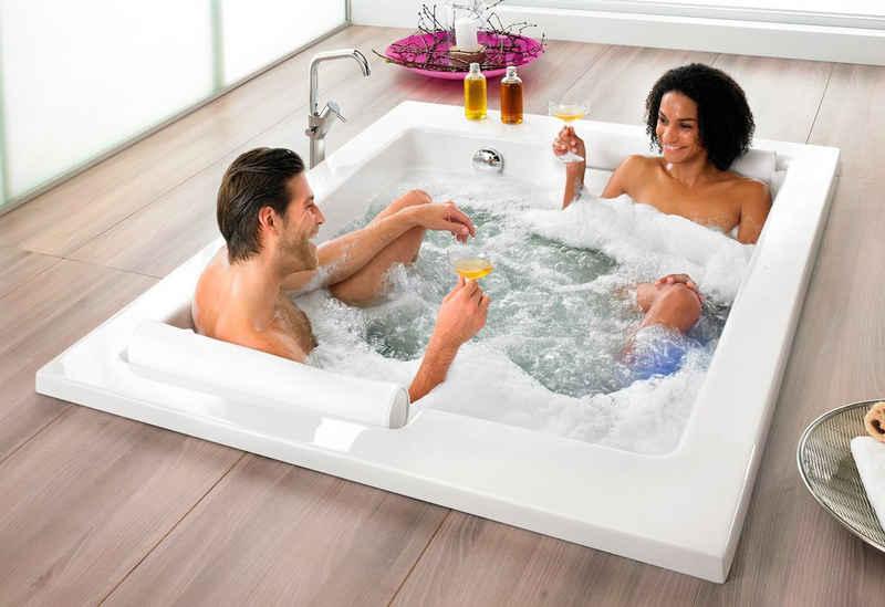 OTTOFOND Whirlpool-Badewanne »Maharaja«, (Komplett-Set, 1-tlg), Typ Exklusiv chrom und zwei Nackenrollen