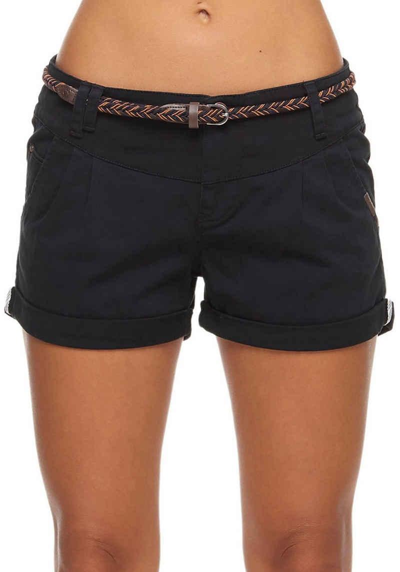 Ragwear Shorts »HEAVEN B« (2-tlg., mit abnehmbarem Gürtel) mit Umschlagsaum