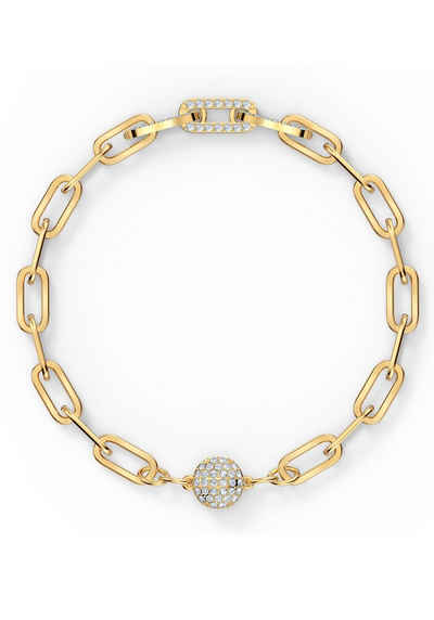 Swarovski Armband »The Elements Chain, weiss, vergoldet, 5560666, 5572639, 5572652«, mit Swarovski® Kristallen