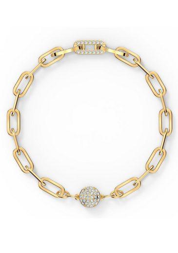 Swarovski Armband »The Elements Chain, weiss, vergoldet, 5560666, 5572639, 5572652«, mit Swarovski® Kristallen