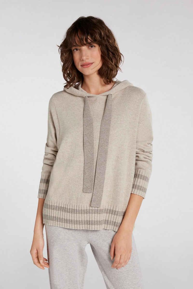 Oui Rundhalspullover »Pullover im Colourblock Look«