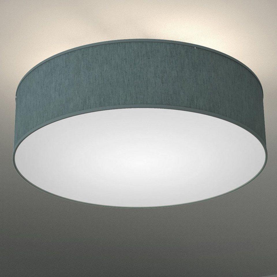 B K Licht Deckenleuchte Led Deckenlampe Stoff Textil Lampenschirm Schlafzimmer Wohnzimmerlampe E14 Online Kaufen Otto