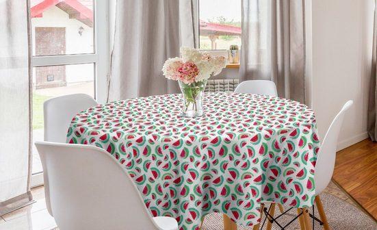 Abakuhaus Tischdecke »Kreis Tischdecke Abdeckung für Esszimmer Küche Dekoration«, Wassermelone Brush Stroke Scheiben Kunst