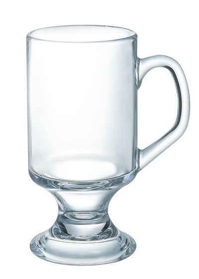 Arcoroc Teeglas »Irish Coffee«, Glas, Kaffeeglas mit Henkel 290ml Glas transparent 4 Stück