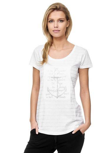 Decay T-Shirt mit maritimem Anker-Print