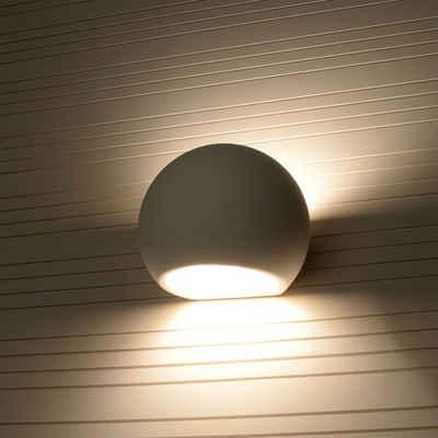 famlights Wandleuchte », Wandleuchte Alina aus Keramik in Weiß E27 max.«, Wandleuchte, Wandlampe, Wandlicht