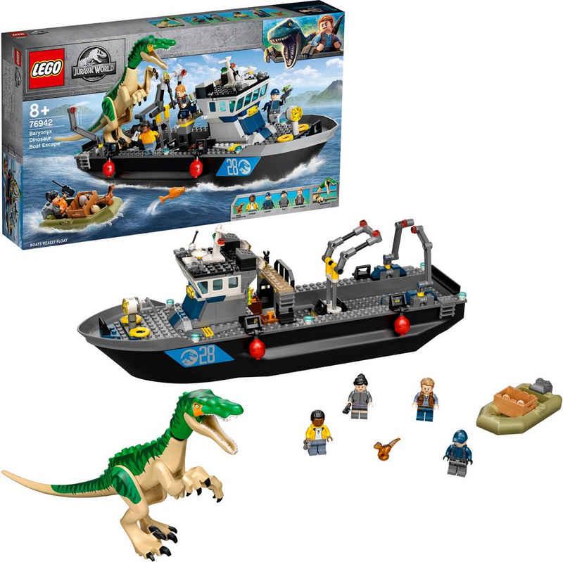 LEGO® Konstruktionsspielsteine »Flucht des Baryonyx (76942), LEGO® Jurassic World™«, (308 St), Made in Europe