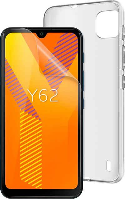 WIKO Y62 inkl. Soft Case & Schutzfolie Smartphone (15,49 cm/6,1 Zoll, 16 GB Speicherplatz, 5 MP Kamera)