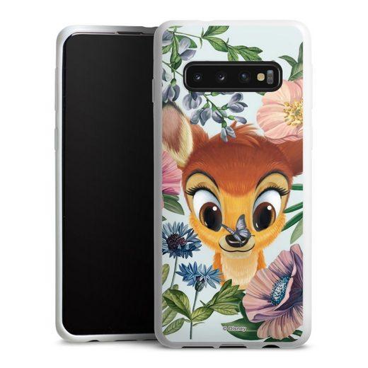 DeinDesign Handyhülle »Bloomy Bambi« Samsung Galaxy S10, Hülle Disney Offizielles Lizenzprodukt Bambi