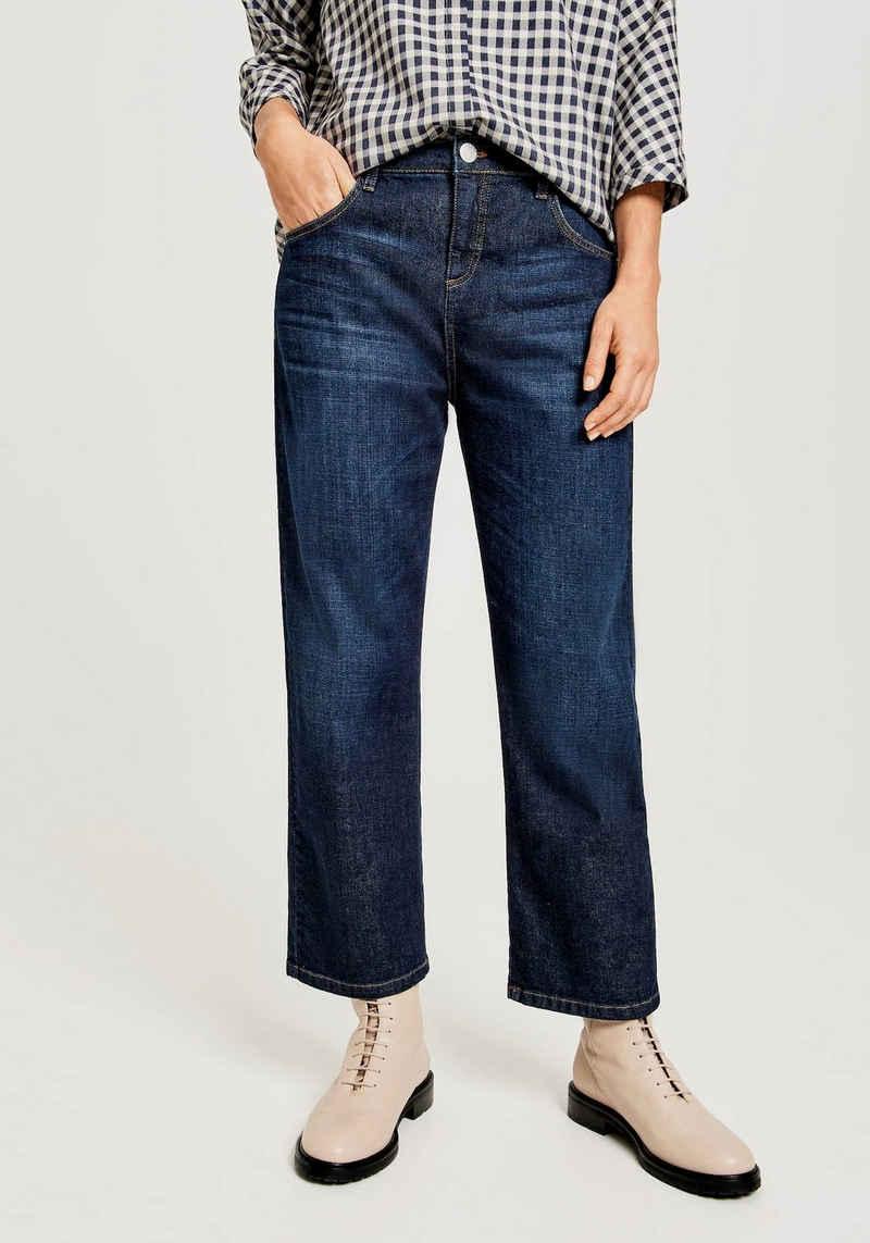 OPUS Loose-fit-Jeans »Lani« angesagte Tobacco Stichings