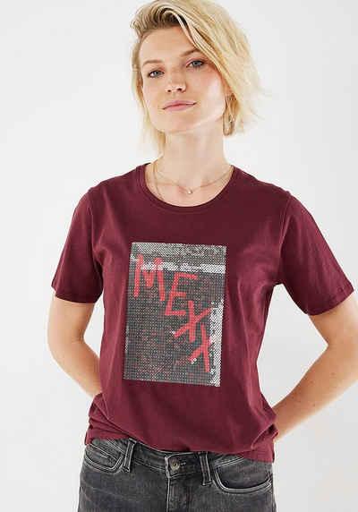 Mexx T-Shirt mit glänzenden Pailletten