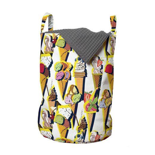 Abakuhaus Wäschesack »Wäschekorb mit Griffen Kordelzugverschluss für Waschsalons«, Eis Sommer Fruity Cones