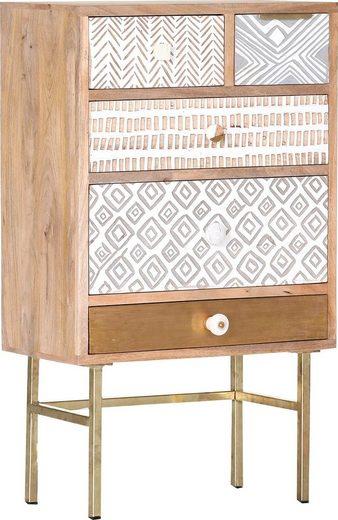Gutmann Factory Kommode »Linea«, mit detailreichen Verzierungen, Shabby Chic, Vintage