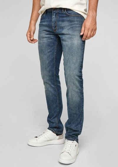 s.Oliver 5-Pocket-Jeans »Slim: Slim leg-Denim« Waschung, Leder-Patch