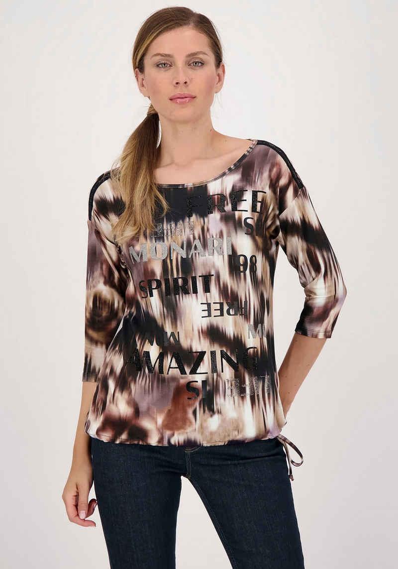 Monari 3/4-Arm-Shirt mit Tunnelzug mit Band zum Binden