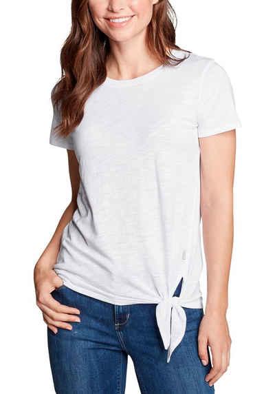 Eddie Bauer T-Shirt Gate Check - Kurzarm mit Knotendetail