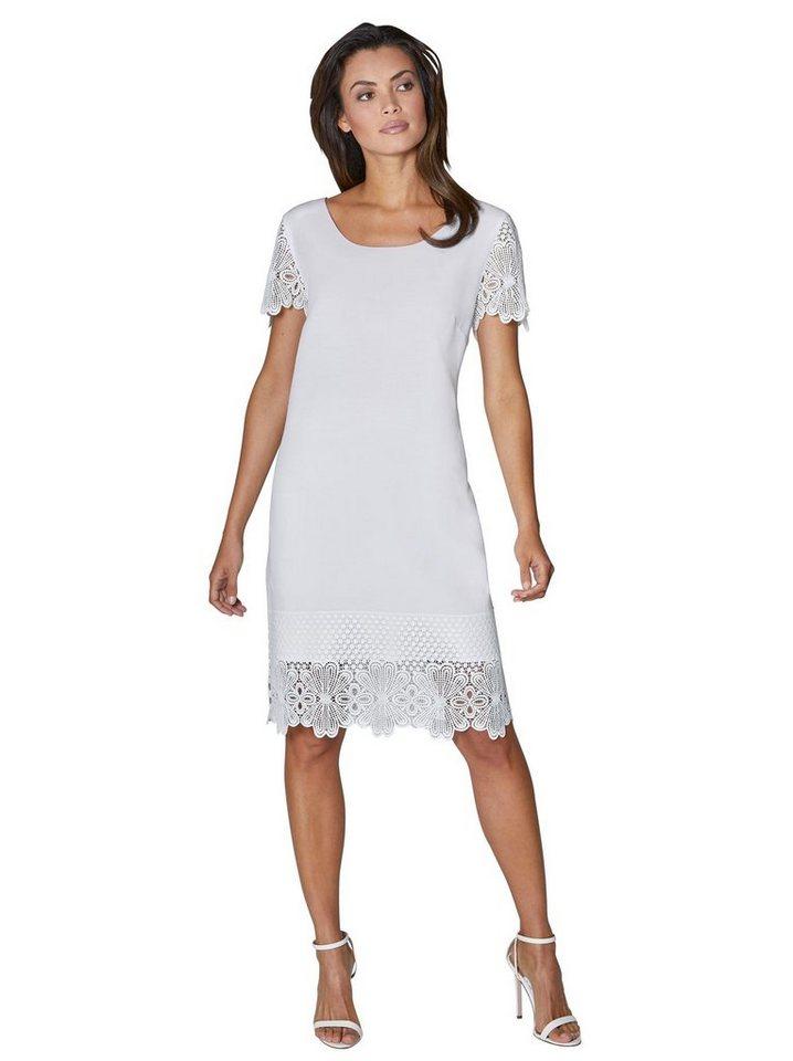 Festtagsmode - creation L Spitzenkleid »Lyocell Kleid« › weiß  - Onlineshop OTTO