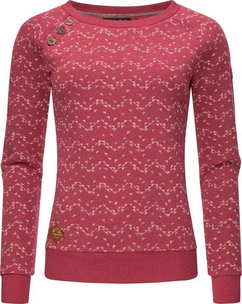 Ragwear Sweater »Daria Print Intl.« stylisches Damen Sweatshirt Longleeve mit Streifen