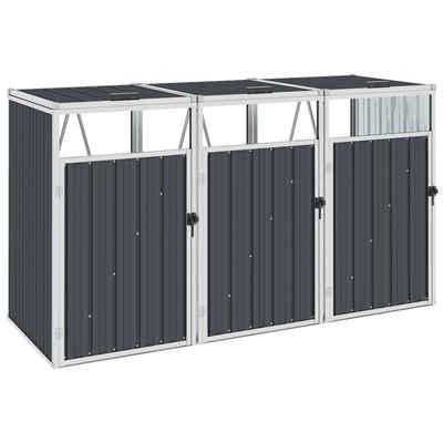 vidaXL Mülltonnenbox »vidaXL Mülltonnenbox für 3 Mülltonnen Anthrazit 213×81×121 cm Stahl«