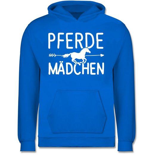 Shirtracer Hoodie »Pferde Mädchen Motiv - Pferde - Kinder Premium Kapuzenpullover - Pullover & Hoodies« reit hoodie
