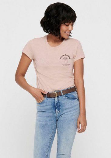 Only Rundhalsshirt »ONLBONE« aus der nachhaltigen ONLY Life Kollektion