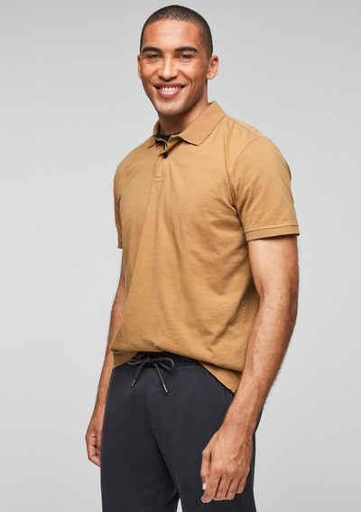 s.Oliver Kurzarmshirt »Poloshirt mit Struktureffekt« (1-tlg) Waschung, Garment Dye