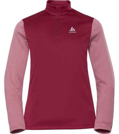 Odlo Funktionsshirt »odlo Funktions-Shirt bequemes Damen Half Zip Sport-Shirt Planches Longsleeve Langarm-Shirt Beere/Rosa«