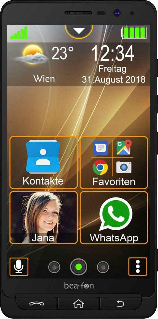 Beafon M5 Smartphone (14 cm/5,5 Zoll, 16 GB Speicherplatz, 13 MP Kamera)