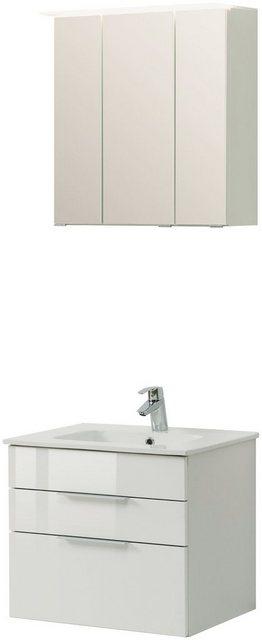 Badezimmer Sets - HELD MÖBEL Badmöbel Set »Ravello«, Breite 60 cm, Set 3 tlg.  - Onlineshop OTTO