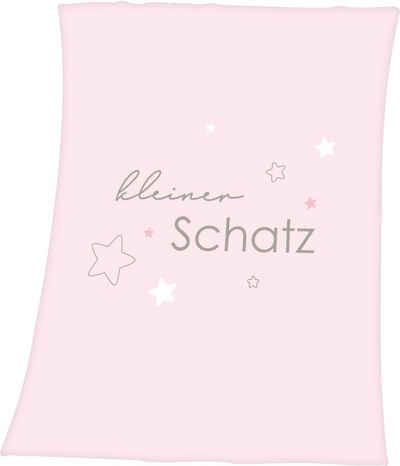 Babydecke »Kleiner Schatz«, Baby Best, mit liebevollem Schriftzug
