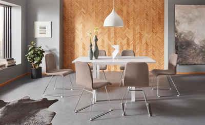 Places of Style Esstisch »Cora«, mit einer Auszugsfunktion, aus schönem Massivholz