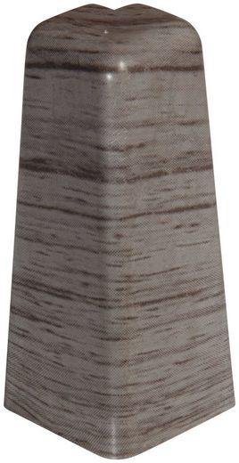 EGGER Außenecke »Eiche anthrazit«, Außeneck-Element für 6 cm Sockelleiste, 2 Stk