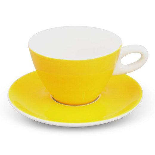 Walküre Porzellan Kaffeeservice »Milchkaffee-Set 2tlg. Alta Gelb Walküre Porzellan« (2-tlg), Porzellan, ALTA