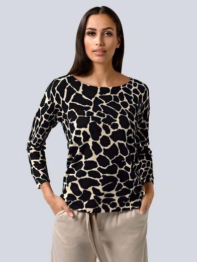 Alba Moda 3/4 Arm-Pullover im modischen Animal Dessin